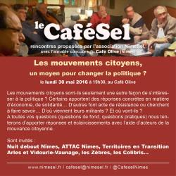CaféSel Mouvements Citoyens